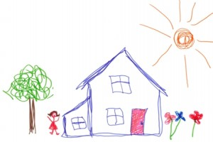 Child-drawing-house-carayon